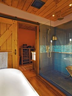 Love the shower...  Basement Cottage Bathroom Design, Pictures, Remodel, Decor and Ideas - page 5