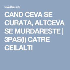CAND CEVA SE CURATA, ALTCEVA SE MURDARESTE | 3PAS(I) CATRE CEILALTI