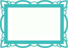 Silhouette Design Store: ornate rectangle frame