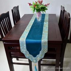 New Style Gorgeous Patchwork Silk Brocade Table Runner ...