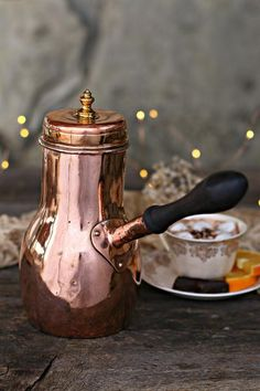 Vintage Copper Coffee / Chocolate Pot