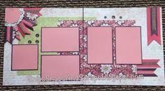Ivy Lane - Layouts A - B for May workshop created by Kathy Burrows -- Snips, Snaps, and Scraps