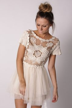 estelle lace dress- cream. think I may treat myself to this!