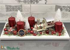 A kis mozdony és a hó födte táj adventi koszorú - dekoráció (AKezmuvescsodak) - Meska.hu Hobby, Advent, Christmas Diy, Noel, Homemade Christmas, Diy Christmas