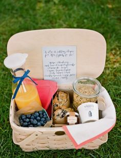 Breakfast picnic basket, perfect for summer mornings after the night before