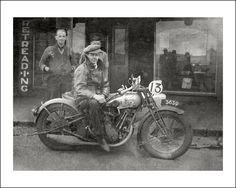 A BSA motorcycle and sidecar outside a cycle shop in Victoria 1927. https://www.flickr.com/photos/69559277@N04/8995827466/in/faves-40906112@N07/