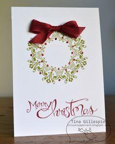 Scissors Paper Card: Daydream Medallions Christmas Card