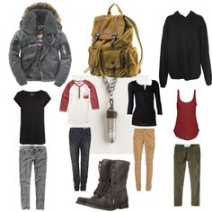 Zombie apocalypse outfits made by me on Polyvore.