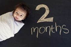 month to month baby pictures on chalkboard Cute idea!!! by Gerrie Zimcosky