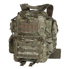 MODULAR – ASSAULT – TACTICAL – RUCKSACK – IXThe perfect size pack with padded comfort back and adjustable padded shoulder harness with attached electronic instrument pouches. Multiple side, upper and lower rear pockets, all with reversed coil zippers to keep the sand out. Lots of universal webbing for various pouch attachments, integrated handles with extra straps and buckles to attach to your drag bag. Hook-n-loop I.D. patch on front, advanced harness retention system for maximum load ...