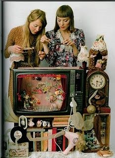 Turn an old TV into a puppet theatre. Original forms of entertainment often…