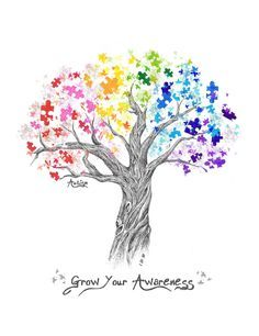 beautiful autism awareness logo Would make a great tattoo!