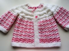 Baby Cardigan, Hand Knitted Baby Cardigan
