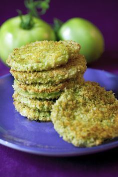 A baked, vegan and lower fat version of the classic southern dish, fried green tomatoes.