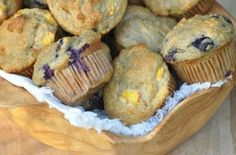 Nourishing Meals: Honey Kissed Peach (or Blueberry) Muffins