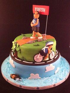 My triathlon cake, I love this one lol
