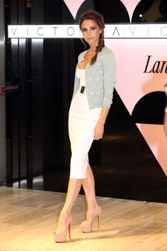 What: Victoria Beckham dress and Miu Miu cardigan Where: Lane Crawford event in Hong Kong