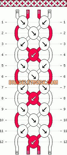 Normal Friendship Bracelet Pattern #7872 - BraceletBook.com