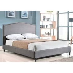 Sam's Club - Parker Grey Linen Upholstered Queen Platform Bed