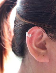 Filigree Ear Cuff Earring Sterling Silver Ear Cuff by JCoJewellery