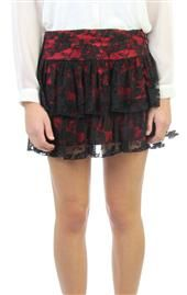 lace skirt with contrast lining Deb Shops, Cheer Skirts, Skater Skirt, Lace Skirt, Contrast, Short Dresses, Mini Skirts, My Style, Red