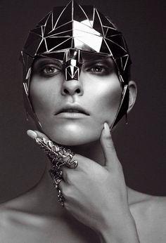 Editorial fashion shoot | Future Fashion | detail | structure | design | style | futuristic | wearable art | black | high fashion | couture | Schomp BMW