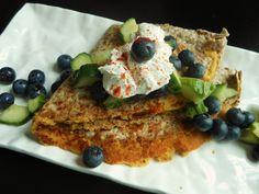 Vegan 5-Ingredient Quesadillas with Garlic Hummus and Cucumber-Blueberry Salsa