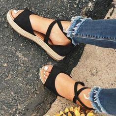2019 Sommer Frauen Sandalen Mode Junge Damen Sommer Frauen Schuhe Süße Frau Sandalen Niedrigen Absätzen 3 Cm A944 Schuhe