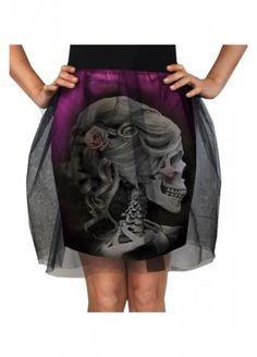 Cameo Skull Tulle Skirt
