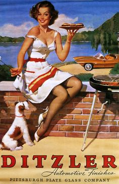 Gil Elvgren - Ditzler Advertisement 1964 to 1970 [554]