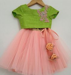 Different types of kids lehenga choli designs - ArtsyCraftsyDad Baby Lehenga, Kids Lehenga Choli, Saree, Frocks For Girls, Dresses Kids Girl, Girl Outfits, Baby Girl Frocks, Kids Indian Wear, Kids Ethnic Wear