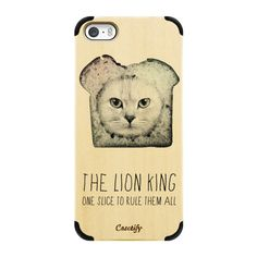 iPhone 6 Plus/6/5/5s/5c Wood Case - The lion king  (cat edition) -... ($45) ❤ liked on Polyvore featuring accessories, tech accessories and phone case