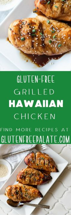 This sweet, juicy, Gluten-Free Hawaiian Chicken is the perfect chicken to whip up on a weeknight and throw on the grill. It's super healthy and flavorful, and you can enjoy it guilt free. via @gfpalate