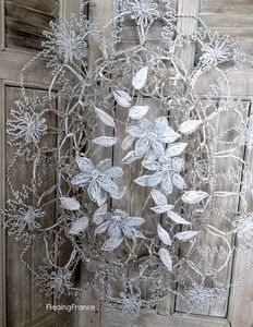 French Beaded Wire Wreath