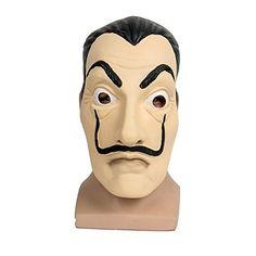 La Casa De Papel Masque Mask Salvador Dali Face Mask Mascara de Dali Money Heist by ASVP Shop: Obtenez le masque et le costume de la série…