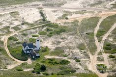 Aerial View Of Stage Harbor Light In Chatham On Cape Cod - Massac Photograph
