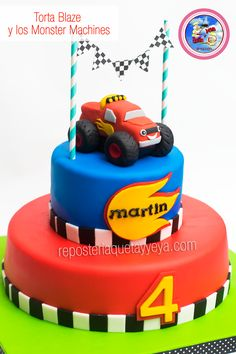 Torta Blaze y los Monster Machines - Blaze and the Monster Machines Cake