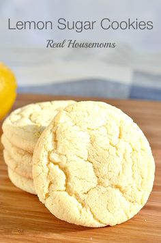 Lemon Sugar Cookies | Real Housemoms