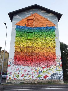 """A House for Everyone"" by BLU in Bergamo, Italy, 10/16 (LP)"