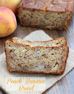 Peach Banana Bread. A delicious and moist quick bread that combines the flavors of bananas and peaches. #breakfast #bread