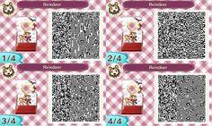 Reindeer - Xmas - Weihnachten - Winter - Fotowand - Bilderwand - photo stand - QR - ACNL - Animal Crossing New Leaf -Broesel