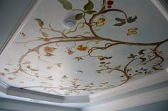 beautiful hand painted ceiling