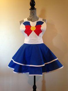 Sailor Moon - Sailor Moon traje - Sailor Moon Cosplay - delantal Retro - Cosplay delantal