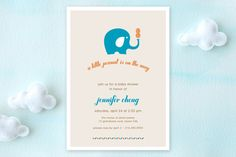 Peanut and the Elephant Baby Shower Invitations by robin ott design at minted.com
