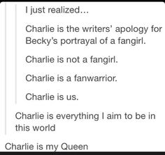 This is funny because my friend and me all have nicknames from spn and mine is charlie