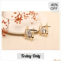 Today Only! 40% OFF this item.  Follow us on Pinterest to be the first to see our exciting Daily Deals. Today's Product: Gold Rhinestone Stud Earrings Buy now: https://small.bz/AArouqE #musthave #loveit #instacool #shop #shopping #onlineshopping #instashop #instagood #instafollow #photooftheday #picoftheday #love #OTstores #smallbiz #sale #dailydeal #dealoftheday #todayonly #instadaily