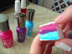 Ombre nails using a makeup sponge! Genius!