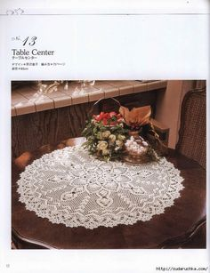 Crochet Knitting Handicraft: Table Center