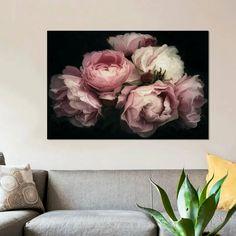 Rose Gold Wall Art, Floral Wall Art, Flower Texture, Flower Wall Decals, Textile Texture, Oil Painting Flowers, Decor Pillows, Wall Murals, Peonies
