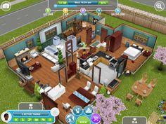 Sim blue house #sims #simsfreeplay #house
